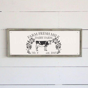 Farm Fresh Milk Stencil