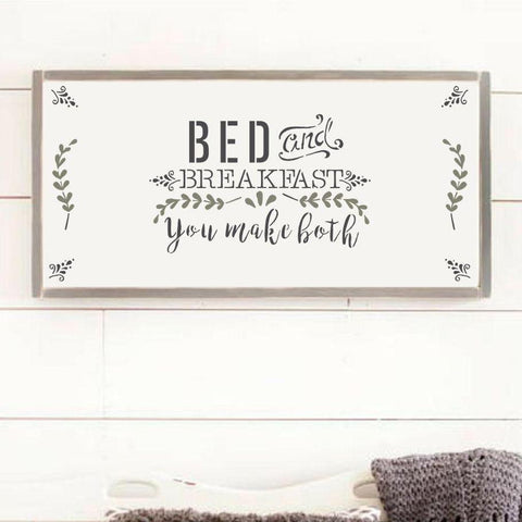 Bed & Breakfast Stencil