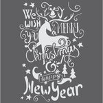 Christmas Wishes Craft Stencil
