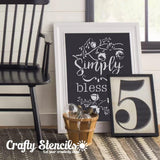 Simply Blessed Craft Stencil