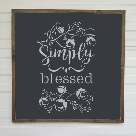 Simply Blessed Stencil