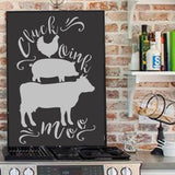 Cluck Moo Oink Antique Farmhouse Stencils