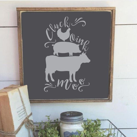Cluck Moo Oink Accent Stencils