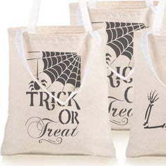 stenciled Trick or Treat Bag
