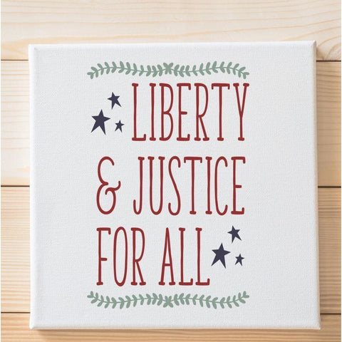 Liberty and Justice for All Stencil