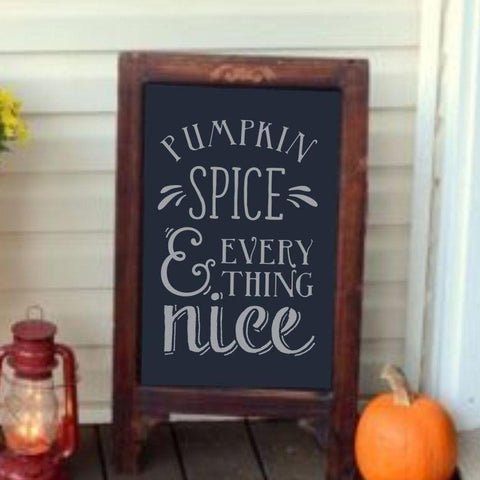 Pumpkin and Spice Wall Stencil
