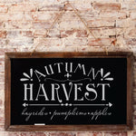 Autumn Harvest Wall Stencil