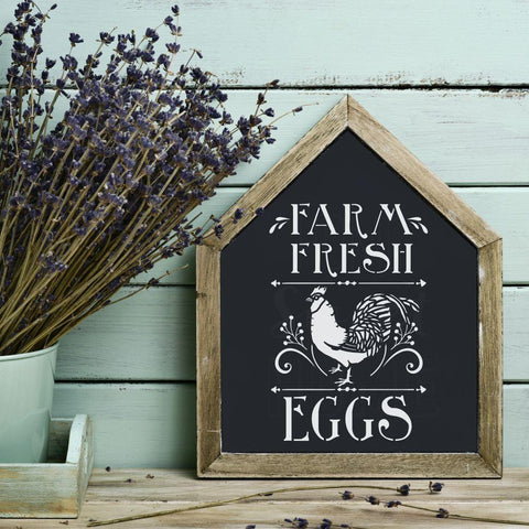 Farm Fresh Eggs Accent Stencil