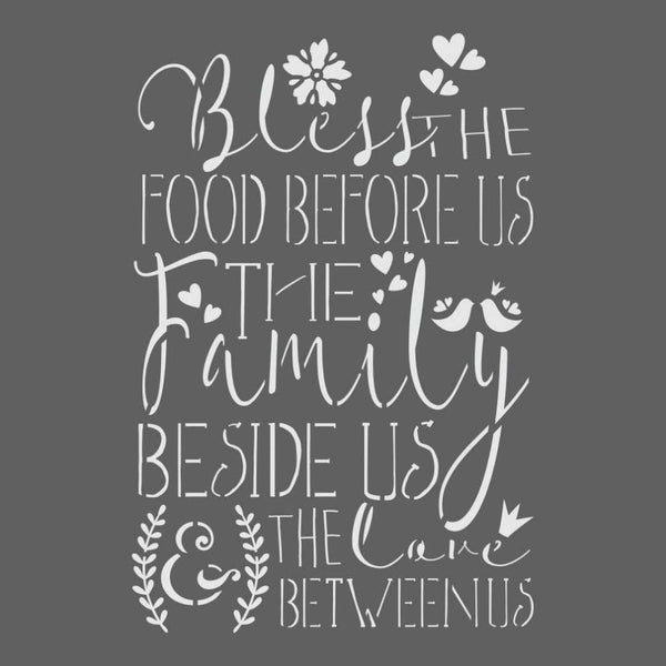 Bless the Food Before Us Stencil