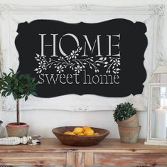 Home Sweet Home Stencil on chalkboard