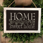 Home Sweet Home Stencil framed Artwork