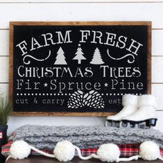 Farm Fresh Christmas Trees Craft Stencil