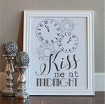 Kiss Me at Midnight Craft Stencil