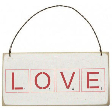 Scrabble Tiles Valentine Wall Stencil