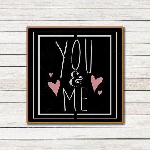 You and Me Wall Stencil