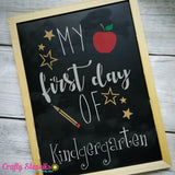 Back to School Chalkboard 3 Piece Stencil Kit