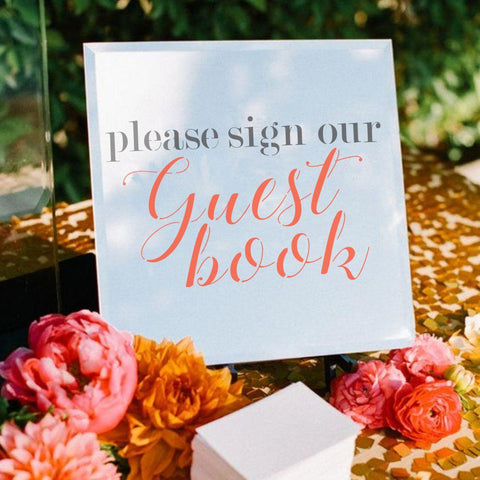 Sign our Guest Book Wedding Sign Stencil