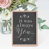 It Was Always You Wedding Sign Stencil