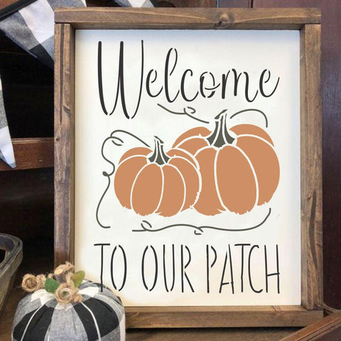 Welcome to Our Patch Halloween Craft Stencil