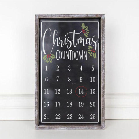 Christmas Countdown Calendar Craft Stencil
