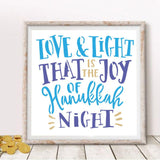 Love and Light Hanukkah Stencil
