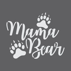 Mama Bear Craft Stencil