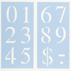 Times New Roman Number Stencil Set