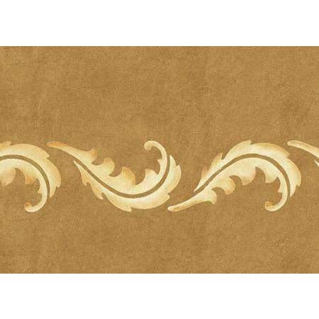Feather Frieze Border Stencil