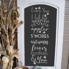 Fall Feelings Chalkboard