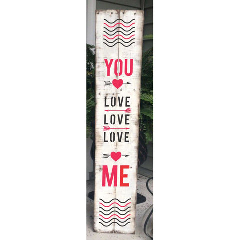 Love, Love, Love Vertical Porch Sign Stencil