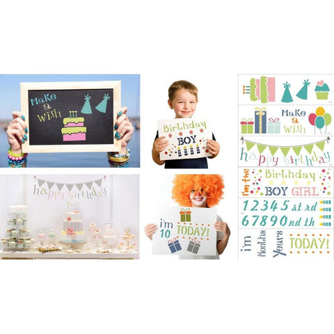 Children's Birthday Party 6 Piece Craft Stencil Kit