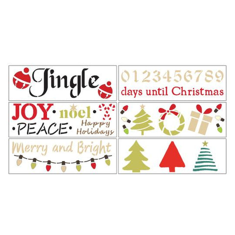Merry and Bright DIY Christmas Stencil Kit