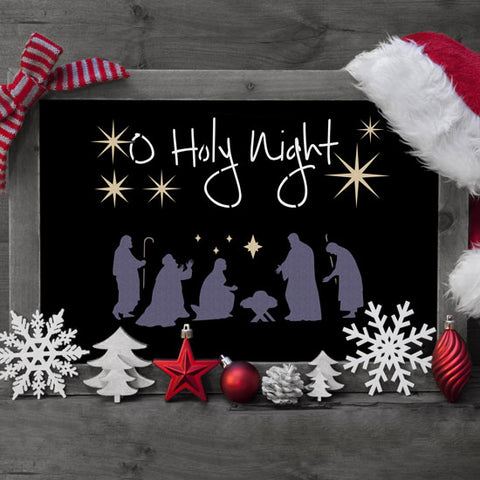 Nativity DIY Christmas Stencil Chalkboard