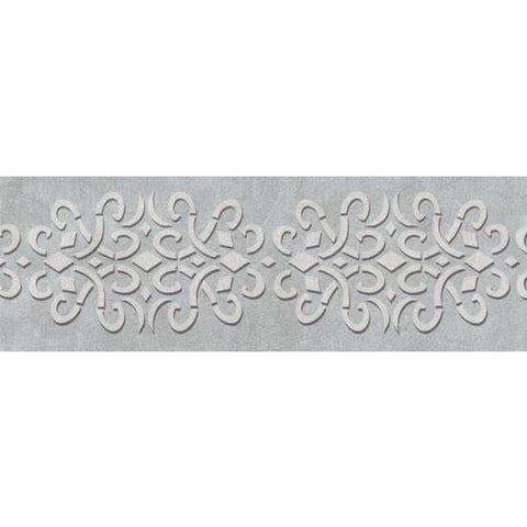 Iron Work Border Stencil