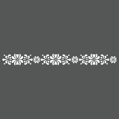 Antique Rosette Border Wall Stencil