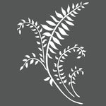 Mini Ferns Wall Stencil