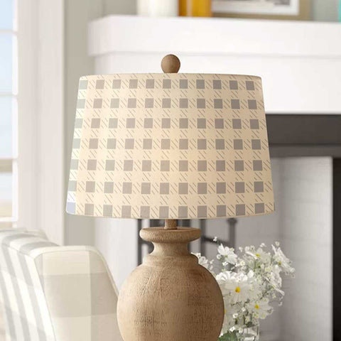 Buffalo Plaid Lamp Shade Stencils