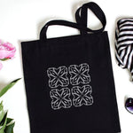 Geometric Art Deco Stencil on Bag