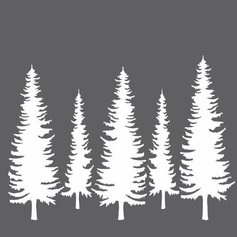 Pine Trees Mini Craft Stencil
