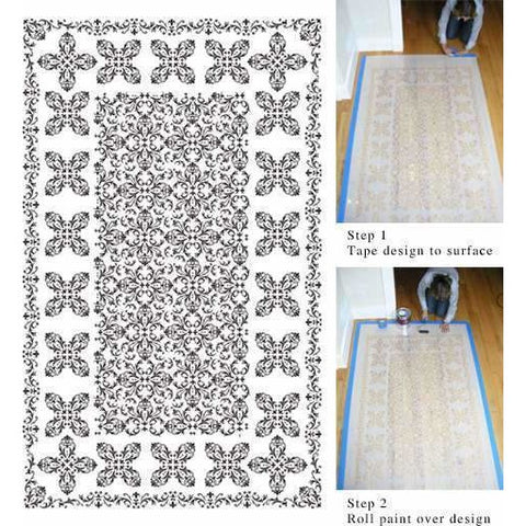 Large Professional Persian Carpet Stencil