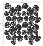 Philodendron Wall Stencil
