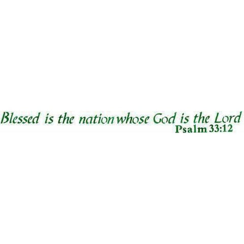 Blessed is the Nation Whose God is the Lord Stencil