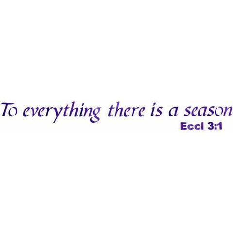 To Everything There is a Season Stencil