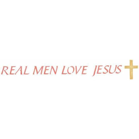 Real Men Love Jesus Stencil