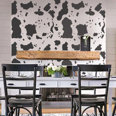 Large Cowhide Print Wall Stencils