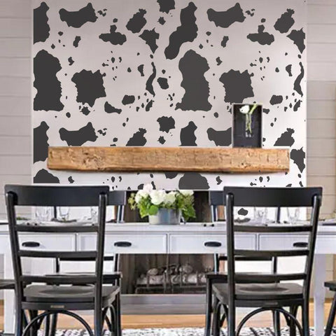 Large Cowhide Print Wall Painting Stencil
