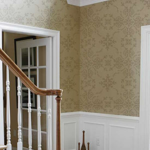 Victorian Damask Wall Painting Stencil