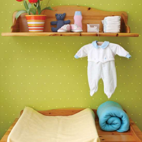 Swiss Dot Wall Painting Stencil Nursery