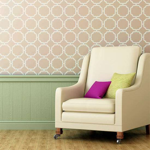 Tetuan Wall Painting Stencil Living Room