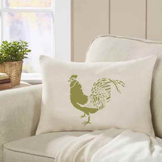 Rooster Motif Accent Stencil on Pillow Stencils